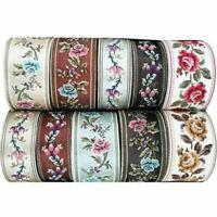 Vintage Floral Silk Embroidery Crochet Fringe Jacquard Ribbon Braid Trim Crafts