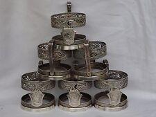 VINTAGE USSR 6 PODSTAKANNIK GORKY Tea Glass-Holder Filegree