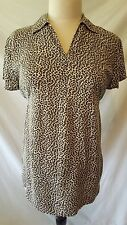 Motherhood Maternity Brown Animal Print Short Sleeve Blouse Small S