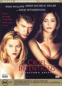 Cruel Intentions DVD Drama Thriller Sarah Michelle Gellar - Ryan Phillippe