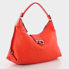 Salvatore Ferragamo Incredible Lava Orange Leather Fanisa Hobo Bag Purse