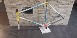 POGLIAGHI Columbus Cromor steel frameset frame fork 53 54 Gilco shape USED