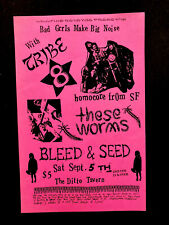 Rare Playbill For Tribe 8 And Guests Seattle 1992 At The Ditto