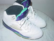 "2012 Nike Air Jordan Retro 5 ""Grape 2013 Release"" White/Emerald Shoes! Size 11.5"