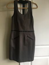 Cynthia Steffe T Back Dress With Leather Accents NWT $275