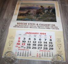 "1994  ROSCOE STEEL  Wall Calendar 19 1/2"" x 27 3/4"" Charles M. Russell"