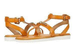MICHAEL KORS Farrow Thongs Flat Slingbacks Sandals Cider Leather Sz 6.5, 10, 11