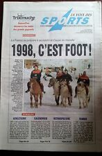 La voix des sports 29/12/1997; Rétrospective et la coupe du monde en 98