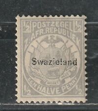 1889 British Colony Swaziland stamps, 1/2p MH, SC 1