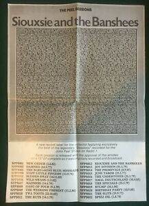 """SIOUXSIE & THE BANSHEES ~ UK 1987 Peel Sessions Promotional Poster 16½""""x 23"""""""