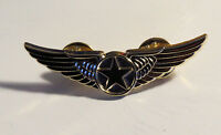 WINGS STAR PILOT insignia emblem badge Pin Golden Wings for Pilots replica 50mm