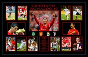 CRISTIANO RONALDO 2021 MANCHESTER UNITED SOCCER PHOTO COLLAGE PRINT OR FRAMED