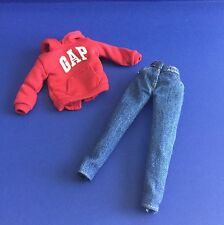 Barbie Outfit Red GAP Hoodie w Gap Jeans 1997 Special Edition