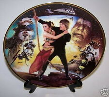 Star Wars Trilogy Plate Return Jedi Movie Luke Leia