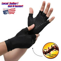 US Arthritis Gloves Compression Copper Pain Relief Hand Wrist Support Brace PD