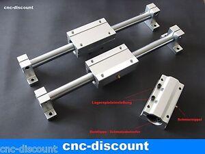 """CNC Linearführung 16x 800mm Set """"Blau"""" 2x  lange Linearwagen Wellen Wellenhalter"""