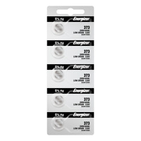 Energizer 373 Silver Oxide Coin Cell Batteries 5 Pack Tear Strip (new)