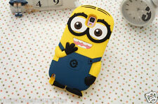 Despicable Me II Minion 2 Eyes Blue Silicone 3D Case for Samsung Galaxy S5 i9600