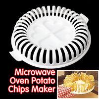 Home Microwave Oven Apple Fruit Potato Crisp Chip Slicer Snack DIY Maker Tray