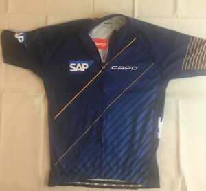 Capo NWT Cycling Racing Jersey Men's L Full Zip Made in Italy SAP Sharp!! New