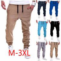 Men Trousers Sweatpants Harem Bottoms Slacks Casual Jogger Dance Sportwear Baggy