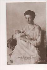 Vintage Postcard Princess Joachim of Prussia & Son