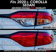 Fits 2020 Corolla RED Rear Tail Light Reverse Signal PreCut Overlays Vinyl SEDAN