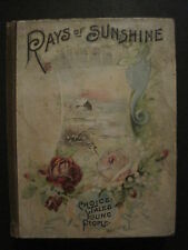 """1898 RAYS OF SUNSHINE POETRY ILLUSTRATED STORIES BOOK""""THE COLOR LINE""""BATTLESHIPS"""