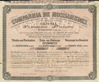 Companhia de Mossamedes > Portuguese colony in Angola stock certificate share