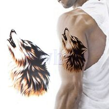 Temporary Wolf Tattoos Large Arm Fake Transfer Tattoo Stickers Waterproof TW