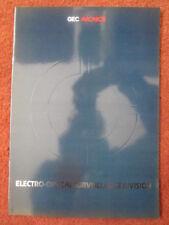 1986 BROCHURE PUBLICITAIRE GEC AVIONICS ELECTRO OPTICAL SURVEILLANCE DIVISION