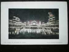 POSTCARD LONDON FRANCO-BRITISH EXHIBITION  1908 - COURT OF HONOUR BY NIGHT