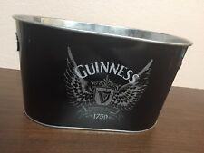 Guinness Beer Galvanized Bucket Oval Bar Ale England Metal Barware
