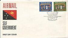 1973 Self Government set of 2 FDI 5th Dec 73 Unaddressed