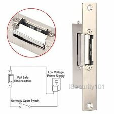 Fail Safe NC Short Narrow-type European Style Door Electric Strike Lock 12V DC