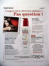 PUBLICITE-ADVERTISING :  L'OREAL Elsève Total Repair Cica-Crème 2015Eva Longoria