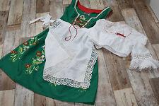 KL4788 @ Dirndl  + Schürze @ oldschool @ Balkonett @ Vintage Trachtenkleid @ 42