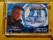 2012 Marvel Avengers Assemble Movie Jeremy Renner Hawkeye Auto/Autograph Card