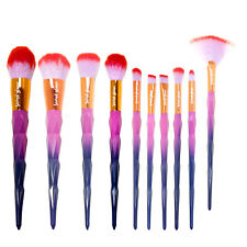 Make Up Brush Set Second Glance Professional Quality Wicked 10 Pc Gift Kit Bag