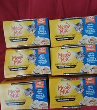 New listing Meow Mix Simple Servings Wet Cat Food 1.3 Oz Cups Real Tuna, Shrimp & Whitefish