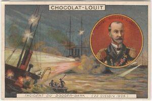 Russian Navy Attacks vs. Fishing Boats Dogger Bank French Chocolate Trade Card