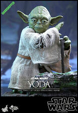 HOT TOYS STAR WARS EPISODE EP V EMPIRE STRIKES BACK MASTER YODA 1/6 NEW