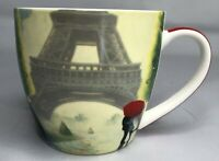 "Coffee Mug Eiffel Tower Paper Product Design Porcelain Mug 3.75""H 4""W"
