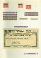 14 Vintage Narcotic Sales Tax Paid Stamps
