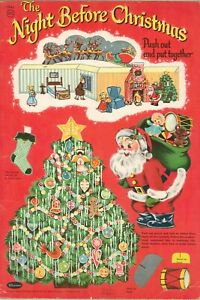 VNT 1950s NIGHT 4 CHRISTMAS PAPER DOLL HD LASR REPRODUCTION HI QAL~TOP SEL LOPr