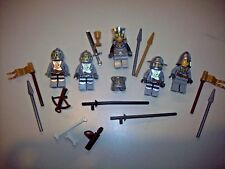 Lego Minifigure Castle Knights Lot M ~  Gold Lion Knights, Weapons, King!