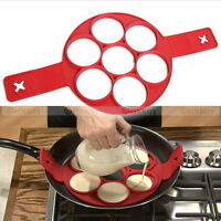 Non Stick Silicone Pancake Pan Flip Perfect Breakfast Maker Egg Omelette Tool