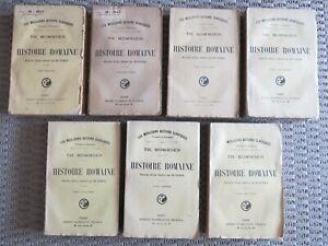 Histoire romaine. de Th. Mommsen en 7 tomes, 1916 / 1924, Flammarion
