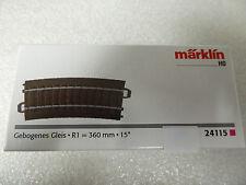 Märklin HO 24115 C Gleis gebogene R1 = 360 mm / 15° Neuware