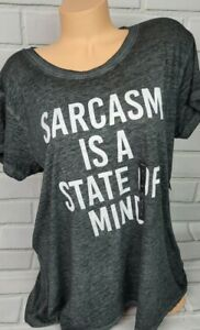 Torrid Womens Plus Size Sarcasm Tshurt Size 1X New